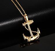 Муж. Ожерелья с подвесками Кулоны анкер Нержавеющая сталь Крест европейский Бижутерия Назначение Повседневные