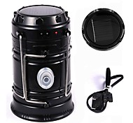 Portable Camping LED Lantern Flashlight Rechargeable Solar Camp Lights Collapsible Table Lamp for Outdoor Hiking Fishing Power Outages