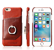 Fierre Shann Genuine Leather Back Cover Case With Card Slot for Iphone 7 7Plus 6s 6s Plus Premium Wax oil Pattern Gift Box