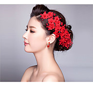 The Bride Headdress Red Hair Accessories