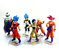 Figuras de Ação Anime Inspirado por Dragon ball Goku Anime Acessórios de Cosplay figura Dourado PVC