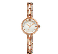 Women's Bracelet Watch Water Resistant / Water Proof Imitation Diamond Quartz Alloy Band Silver Rose Gold