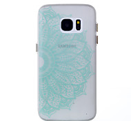For Samsung Galaxy S8 Plus S7 Glow in the Dark Case Back Half Flowers Pattern Soft TPU Cover Case S8