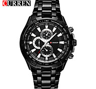 Men's Fashion Calendar Steel Waterproof Quartz Watch