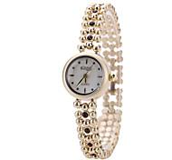 Women's Fashion Watch Wrist watch Bracelet Watch Simulated Diamond Watch Imitation Diamond Quartz Alloy Band Black White Brown Pink