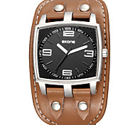 Men's Sport Watch Quartz Water Resistant/Water Proof PU Band Black Brown Brand
