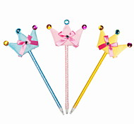 Fashion Plastic/Cloth/Ribbon Handmade Crown BallPoint Pen