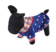 Hunde T-shirt Hundekleidung Lässig/Alltäglich Amerikaner / USA Blau