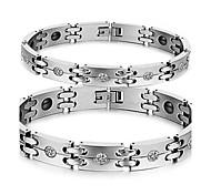 Herrn Damen Ketten- & Glieder-Armbänder Stahl Silber Schmuck Für Normal 1 Stück