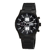 Men's Sport Watch Fashion Watch Quartz Calendar Water Resistant / Water Proof Stainless Steel Band Black