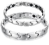 Herrn Paar Ketten- & Glieder-Armbänder Stahl Schmuck Silber Schmuck Für Normal 1 Stück
