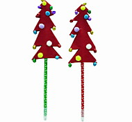 Christmas Plastic/Non Woven Fabric/Hair Ball Small Bell Tree Style BallPoint Pen