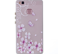 For Huawei P9 Lite P8 Lite Case Cover Butterfly Flower Pattern Painted TPU Material Luminous Phone Case