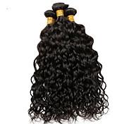 Ciocche a onde capelli veri Brasiliano Poco ondulata 12 mesi 3 pezzi tesse capelli