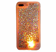For Case Cover Flowing Liquid LED Translucent Back Cover Case Heart Soft TPU for AppleiPhone 7 Plus iPhone 7 iPhone 6s Plus iPhone 6 Plus