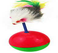 Cat Toy Pet Toys Interactive Cage Ball Red Green Plastic