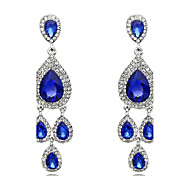 Women's Drop Earrings Sapphire Fashion Crystal Jewelry For Wedding Party Daily