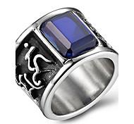 Массивные кольца Кольцо Оникс Агат Титановая сталь Мода Черный Красный Синий Бижутерия Повседневные 1шт