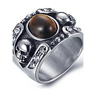 Муж. Массивные кольца Кольцо Оникс бижутерия Агат Титановая сталь Бижутерия Назначение Повседневные