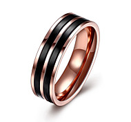 Ring Jewelry Steel Black Jewelry Casual 1pc