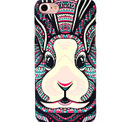 For Apple iPhone 7 7Plus 6S 6Plus SE 5S 5 Case Cover Rabbit Pattern Touch Feel PC Material Luminous Relief Phone Case