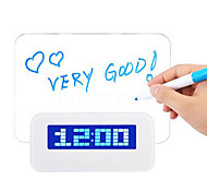 sveglia led fluorescenti digitale con message board hub USB a 4 porte