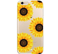 For Apple iPhone 7 7Plus 6S 6Plus Case Sunflower  Pattern HD TPU Phone Shell Material Phone Case