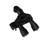 TELESIN Black Dual Heads Bike Handlebar Seatpost Pole Mount for Gopro Hero 4 3 3 2 1