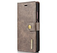 Solid Color Two-in-One Genuine Leather Cowhide Mobile Phone Holster for Huawei P9 Mate9