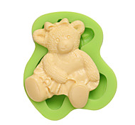 Online Retail Shop 3D Gummi Bear Art and Craft Clay Silicon Cookie Molds for Cake Fondant Decoration