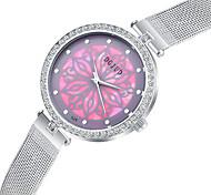 Unisex Dress Watch Fashion Watch Simulated Diamond Watch Imitation Diamond Quartz Alloy Band Elegant Silver