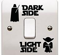 Мультипликация Наклейки Простые наклейки Наклейки для выключателя света,Бумага материал Украшение дома Наклейка на стену