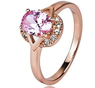 Ring Jewelry Crystal Sterling Silver Simulated Diamond Gold Jewelry Party Daily 1pc