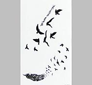 Fashion Tattoo Aerial Bird Waterproof Tattoo Stickers