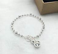 Bracelet Chain Bracelet Sterling Silver Heart Fashion Gift Jewelry Gift Silver1pc