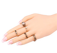 Ring Acrylic Party Daily Casual Jewelry Alloy Women Ring 1set Gold Fashion Personality Beautiful