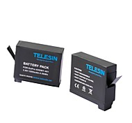 TELESIN 2 Pieces Replacement Battery Set for Hero4 Compatible With Gopro Ahdbt-401 (1200mah)
