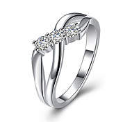 Gorgeous New Fashion Silver Jewelry Silver Plated Cubic Zirconia Ring Party/Wedding Jewelry For Women