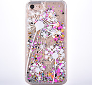 For Apple iPhone 7 7 Plus Case Cover White Dandelion PC Material Star Flash Powder Quicksand Phone Case