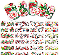 12 Designs/Sets Nail Sticker Chinese New Year Theme Pattern Watermark Tips Nails Decals Full Nail Art Tools BN529-540