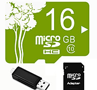 Plant Theme 16GB Micro SD TF Card  with SD SDHC Adapter and Multi-function OTG USB Card Reader