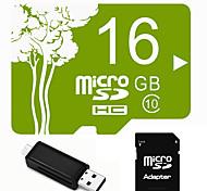 Outro 16GB MicroSD Classe 6 15 Outro Leitor de Cartão Tudo-em-Um Leitor de Cartão Micro SD Leitor de Cartão SD USB 2.0