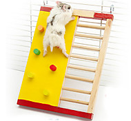 Climbing Ladder Toy Wood Toy for Pet Dwarf Hamster Chinchillas Squirrel Small Animal Cage Toy