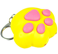Keychain Jewelry Unique Design Unisex Cool Casual Assorted Colored Adorable Cat's Paw LED Wallet Accessories