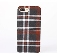 Para Diseños Funda Cubierta Trasera Funda Diseño Geométrico Dura Textil para AppleiPhone 7 Plus iPhone 7 iPhone 6s Plus/6 Plus iPhone