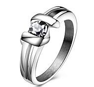 Жен. Массивные кольца Кольцо Кристалл Хрусталь Титановая сталь Бижутерия Назначение Для вечеринок Повседневные Спорт