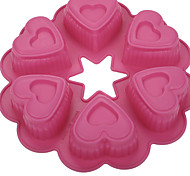 выпечке Mold Сердце Для торта Для получения хлеба Для Cookie силиконовыйВысокое качество Свадьба День рождения День Святого Валентина