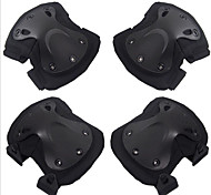 4 Pcs Black Hawk Protector CS Outdoor Riding Kneepad Elbow Brace Set Motorcycle Accessories