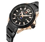 Men's Dress Watch Fashion Watch Wrist watch Quartz Japanese Quartz Calendar Water Resistant / Water Proof Moon Phase Stainless Steel Band