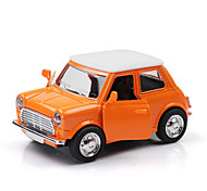 Classic Car Toys Car Toys 1:28 Metal Plastic Orange Model & Building Toy